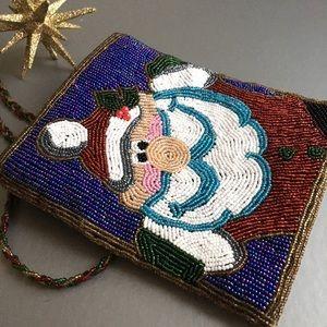 Handbags - 🎄Beaded Santa Claus Purse